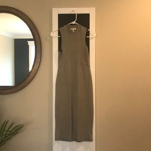 Monteau form fitting stripe dress